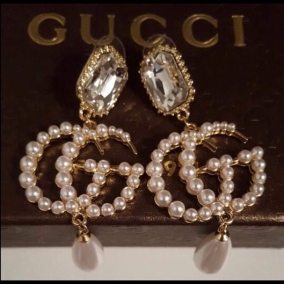 77a9873b0 Gucci Jewelry | Gg Pearl Drop Earrings | Poshmark
